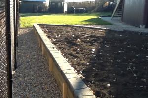 backyard landscape project